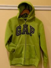 Gap Kids Boys Bright Green Fleece Hoodie Sz:12 NWT