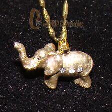 Bejeweled Elephant Necklace (Wildlife Collectible, 3859En) Baked Enamel Finish