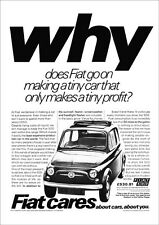 FIAT 500 RETRO A3 POSTER PRINT FROM CLASSIC 70'S ADVERT