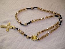 Collier Croix Crucifix Shamballa-Couleur or avec croix strass or