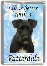 """Patterdale Terrier Dog Fridge Magnet """"Life is better with ..."""" by Starprint"""