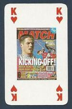 MATCH MAGAZINE-20 YEAR ANNIVERSARY COVER PLAYING CARD-LIVERPOOL-MICHAEL OWEN-KH