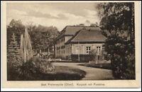 Bad Freienwalde Oder Postkarte ~1920/30 Partie im Kurpark mit Fontäne ungelaufen