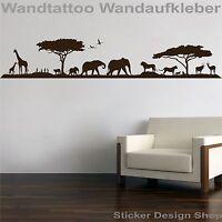 Afrika Landschaft Safari Wandtattoo Wandaufkleber Wohnzimmer Aufkleber Sticker 1