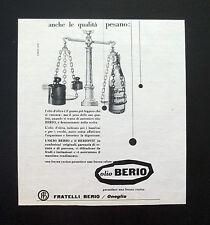 F467 - Advertising Pubblicità - 1957 - OLIO BERIO