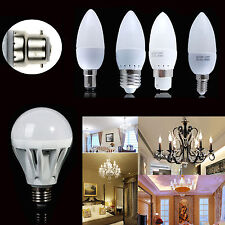 3/5/7/9W B22 LED Globe Bulb B15 E14 E27 G4 SMD Candle Light Cool/Warm White Lamp