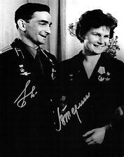 More details for valery bykovsky & valentina tereshkova double signed autograph photo coa aftal