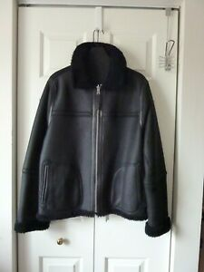 Vince Men's Reversible Shearling Leather Jacket Size:XS  $1695 NWT