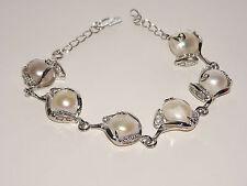 1 x Jolie Bracelet en veritable Perle D'eau douce Blanc★ NEUF SB