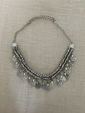 Silver Gypsy Coin Chain Bohemian Necklace