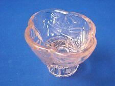 1930s Light Peach Pink Glass Candle Holder Reversible Small Trinket Pot Art Deco