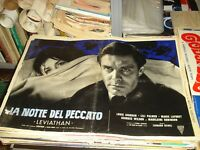 The Notte Del Sinful (Leviathan) Fotobusta Original 1962 Jourdan Laforet Type IN
