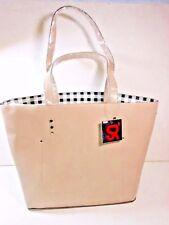 NWT SR SQUARED by Sondra Roberts WOMEN'S Saffiano TAN Purse TOTE Handbag LRG $90