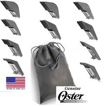 OSTER A5 GUIDE ATTACHMENT 10 pc Blade COMB SET w/Case*FitMost Wahl,Andis Clipper