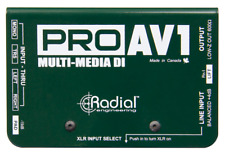 Radial ProAV1 Passive DI for AV with stereo-to-mono mix , BEST OFFER R014