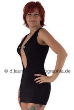 Hot * Sexy * Tolles schwarzes Minikleid mit Kettenapplikation, Gr. 36-38