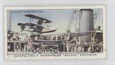 1939 Tobacco Base #31 Catapulting a Supermarine Walrus Amphibian Card 1t5