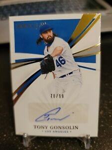 TONY GONSOLIN 2021 Immaculate Auto Los Angeles Dodgers #78/99!
