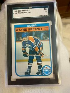1982-83 O-Pee-Chee Wayne Gretzky #106 SGC graded 60
