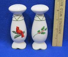 Salt & Pepper Shakers Natures Whisper Christmas Winter Holly & Cardinal Russ