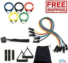 Resistance Bands 11 PCS Set Fitness Exercise Tube Workout Band Yoga Pilates ABS