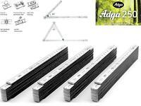 4x Adga Zollstock Holz weiß 2m Winkelübersicht Winkelgradskala Zollstöcke