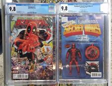 Set of 2: Deadpool #1 (2016) CGC 9.8 + Secret Secret Wars #1 AF Variant CGC 9.8