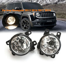 Fog Light For Jeep Renegade 2015 2016 2017 2018 Bumper Driving Lamp w/ Bulb Pair