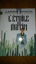 lot bd LARGO WINCH n°21 l'étoile du matin 900 ex limité + port folio sérigraphie