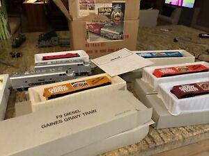 Vintage BACHMANN Gaines Gravy Train HO Scale E Power 5 car + engine set complste