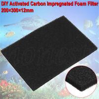 20×30×1.2CM DIY Activated Carbon Impregnated Fish Tank Foam Filter Pad Sponge