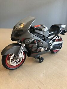 Silver Kawasaki Motorcycle Ninja Road Rippers Toy State. Play Music And Sound