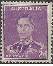 Australia 1941 2d PURPLE KING GEORGE VI Unhinged Mint, SG 185