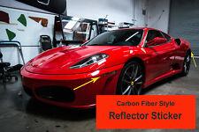 6pcs Ferrari F430 Carbon Fiber Style Side Reflector Indicator Insert Decal