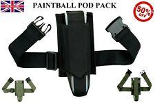 New Paintball Pod Pack Harness Belt Pod Holder Battle Pack Paintballing Tube Uk