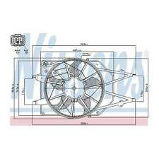 Fits Ford Focus MK1 1.8 Bi-Fuel Genuine Nissens Engine Cooling Radiator Fan