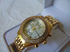 Stauer Ladies Diamondaura® Brillante 18K Gold Fused Stainless Steel Watch