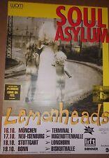 """TOUR POSTER~Soul Asylum 1992 Grave Dancers Union w/Lemonheads 22x34"""" Germany~NOS"""