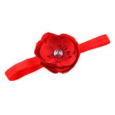 Bandeau de fleur pour les bebes en bas age - rouge L8Q9
