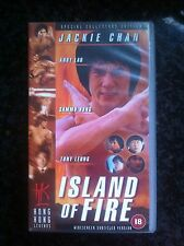 ISLAND OF FIRE VHS PAL JACKIE CHAN WIDESCREEN