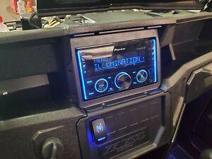 2016 - 2021 Polaris General Double Din Radio Media Receiver Mount
