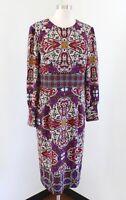 NWT $139 Chico's Medallion Print Dress Ornate Geometric Shift Chicos Sz 2 Purple