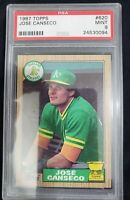 Jose Canseco 1987 Topps PSA 9