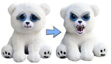 Feisty Pets Stuffed Animal Plush Toy Scary Cute Prank Karl Snarl Polar Bear New