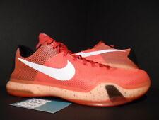 Nike Zoom KOBE X 10 UNIVERSITY RED WHITE CRIMSON HOT LAVA BLACK 705317-616 DS 12