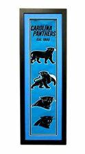 "Carolina Panthers 36""x12"" Framed Heritage Banner with Team Logos"