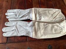 Imker Handschuhe aus Ziegenleder und Baumwolle Imkerhandschuhe Größe M Imkerei