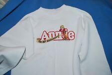 """Annie"" 1997 20th Anniversary Broadway MUSICAL Sweatshirt SZ ADULT SMALL WHITE"