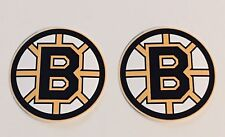2x Boston Bruins Car Bumper Laptop Phone Wall Vinyl Die Cut Sticker Decal