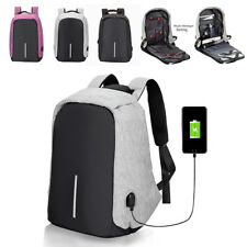 Anti Theft Smart School College Travel Backpack Safe Bag USB Charging Laptop UK